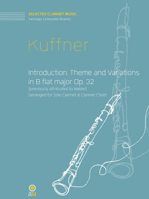 Küffner_Introduction, Theme and Variations-clarinet choir